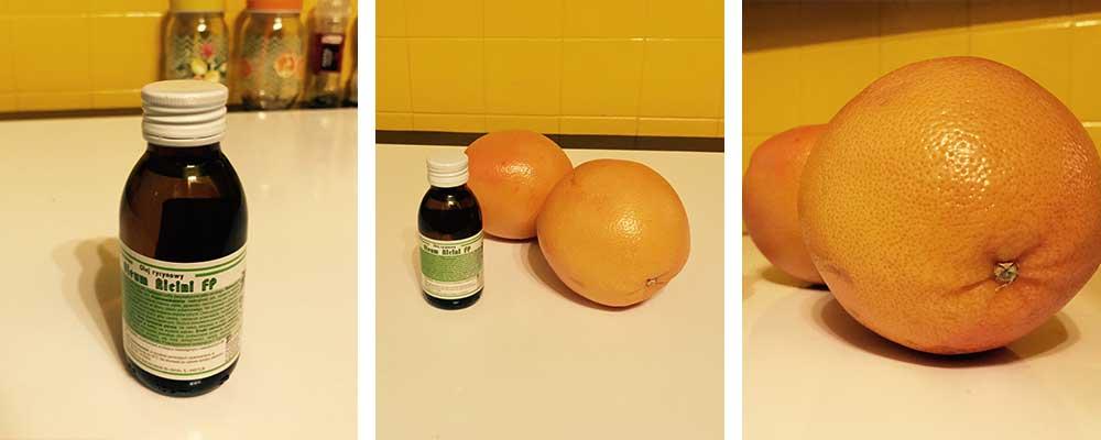 oczyszczanie jelit olejek rycynowy i grejpfrut